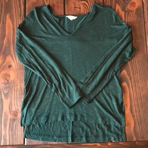 Madewell forest green anthem long sleeve tee
